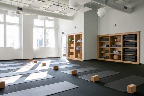 A yoga studio