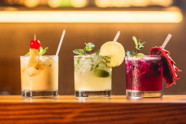 Three alcohol beverages