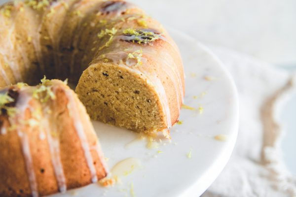 A lemon bundt cake