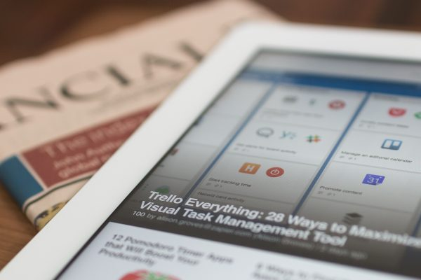 Newspaper and ipad